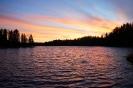 Вечер на озере в Карелии