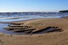 Берег Ладожского озера пляж